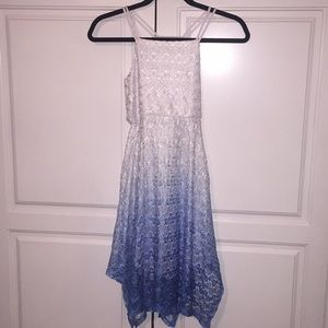 Bloom ombré lacy holiday dress